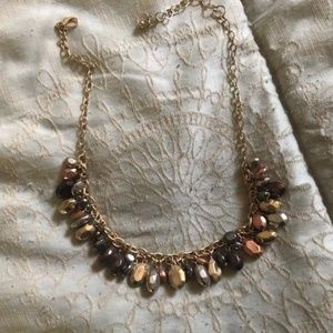 Tri Colored Beaded Necklace